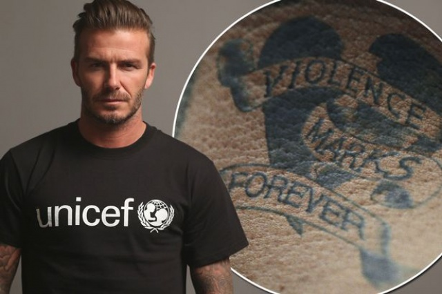 Beckham Unicef Tattoo
