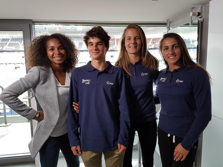 Team EDF Espoirs & Laura Georges