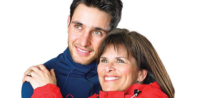 Jason Lamy-Chappuis et sa mère Annette