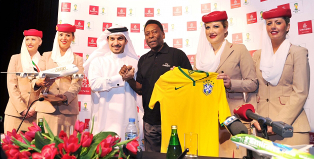 Pele, nouvel ambassadeur mondial Emirates